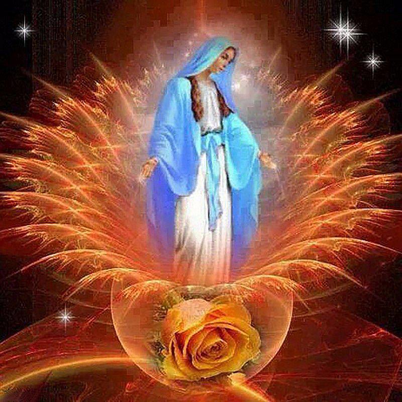 Алмазная вышивка мозаика Чарівний діамант Красота и тепло души КДИ-0283 40х40 см 21цв Квадратные стразы Полная