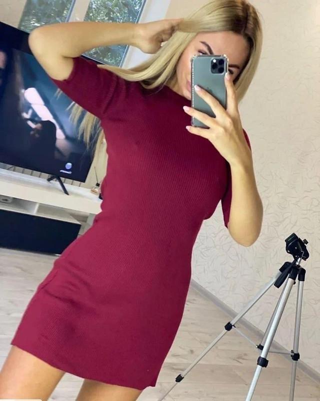 платье под горло на осень с рукавом три четверти