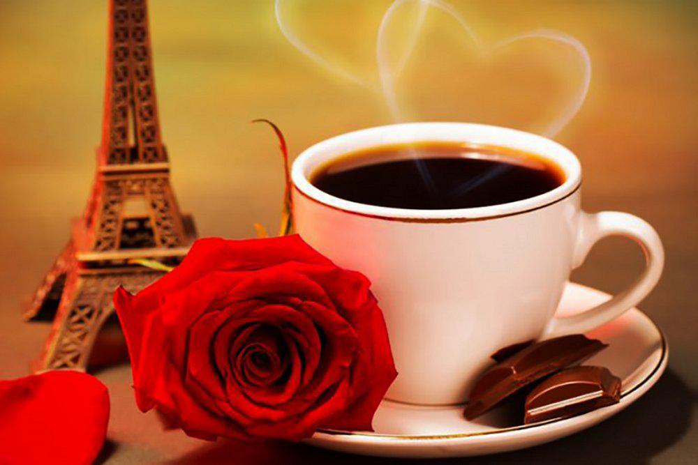 Алмазная вышивка мозаика Чарівний діамант Ароматный кофе КДИ-0345 30х20 см С любовью! 15цв Квадратные стразы