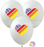 Воздушные шары Likee белый TM Show (100 штук)