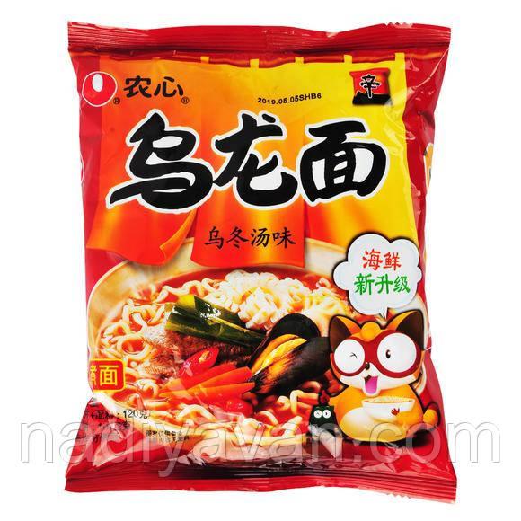 Nongshim Oolong Soup Noodle Лапша Удон с морепроодуктами 120 г