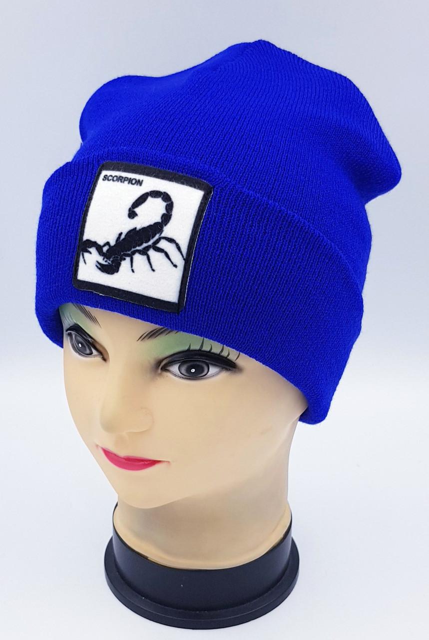 Детская вязаная шапка Klaus Объемный шеврон 53-55см (330-ВА)