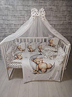 Детский постельный комплект в кроватку Принт