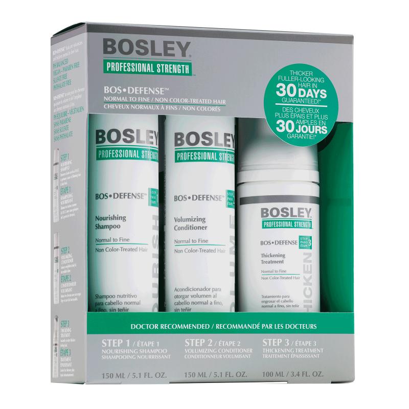 Набор для нормальных неокрашенных волос Bosley Bos Defense Starter Pack for Normal to Fine Non Color-Treated H