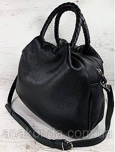 710  Натуральная кожа Женская сумка хобо мешок черная через плечо из натуральной кожи объемная сумка женская