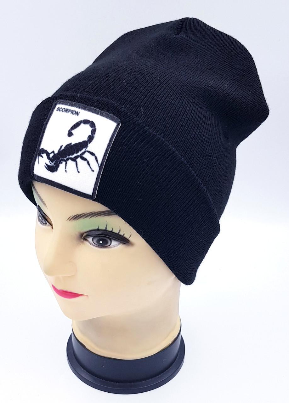 Детская вязаная шапка Klaus Объемный шеврон 53-55см (343-ВА)