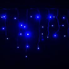 Светодиодный мини занавес Айсикл Плей Лайт, бахрома (0,5х5) Синий