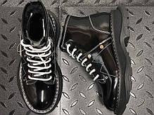 Женские кроссовки Alexander McQueen Boots Black  Winter. ТОП Реплика ААА класса. Черные, фото 3