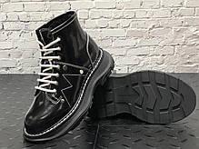 Женские кроссовки Alexander McQueen Boots Black  Winter. ТОП Реплика ААА класса. Черные, фото 2