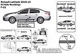 Молдинги на двері для Renault Latitude 2010-2015, фото 4