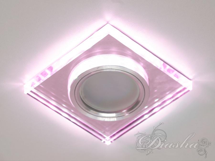 Светильник со встроенной светодиодной подсветкой 6020WH+PK