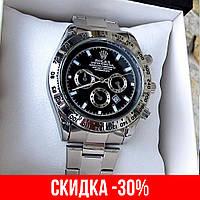 Мужские серебряные наручные часы Rolex Daytona / Ролекс