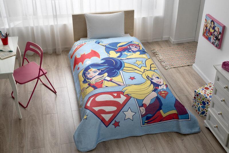 Покрывало-плед TAC DC Super Hero Girls 160×220 см
