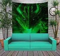 Панно тапестри(гобелен) с 3D с принтом Зеленый Дракон