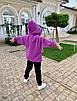 Костюм спорт стиль прогулочный на девочку теплый с начесом 134;140;146, фото 2