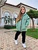Костюм спорт стиль прогулочный на девочку теплый с начесом 134;140;146, фото 6