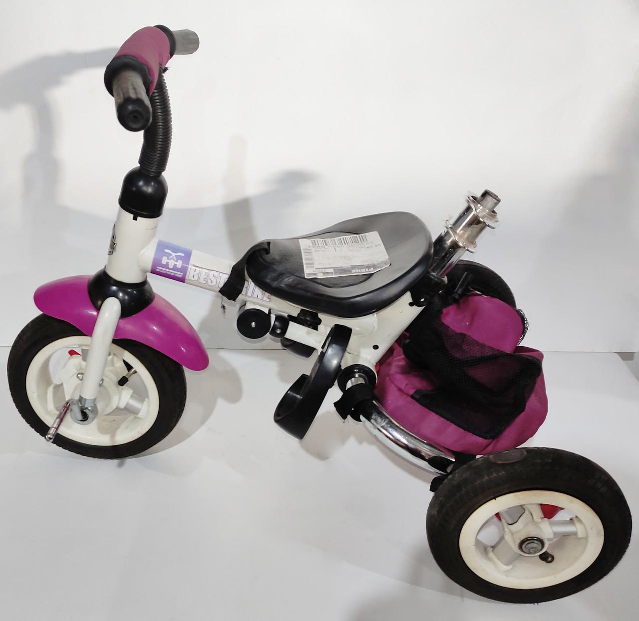 Б/У Велосипед трехколесный Best Trike фиолетовый, без родительской ручки и без защитного тента