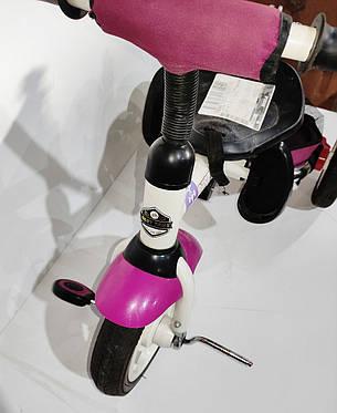 Б/У Велосипед трехколесный Best Trike фиолетовый, без родительской ручки и без защитного тента, фото 2