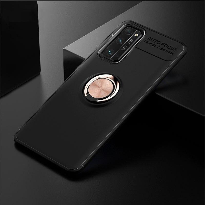 Чохол Fiji Hold для Huawei P40 бампер накладка з підставкою Black-Gold