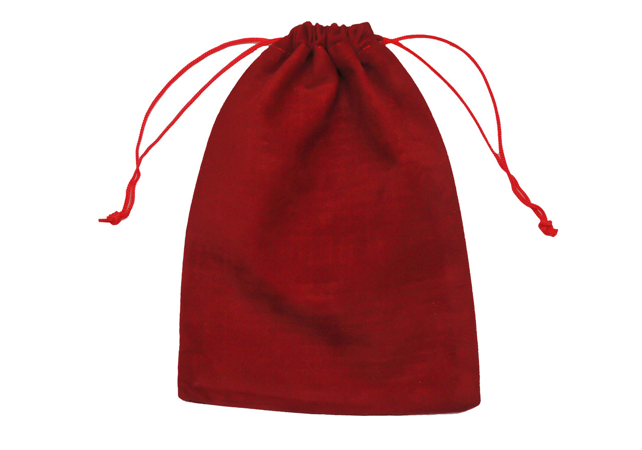 Мішечок бордовий оксамитовий для карт 7 х 9 см ( бордовий)