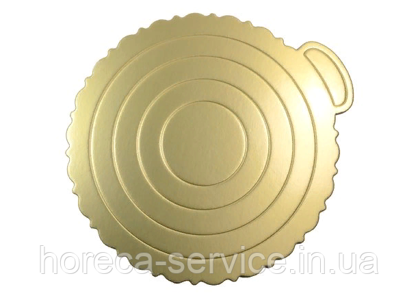 0290 Подложка для Торта Золотистая Ø260мм
