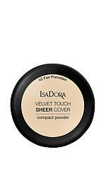 IsaDora Velvet Touch Sheer Cover Пудра Компактна 40 Fair Porcelain