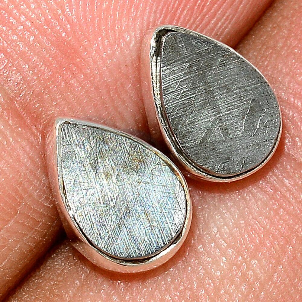 Серебряные серьги с метеоритом Муонионалуста, 1452СМ
