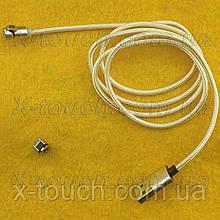 Магнітний USB кабель 3А з заглушкою Lightning, золотий
