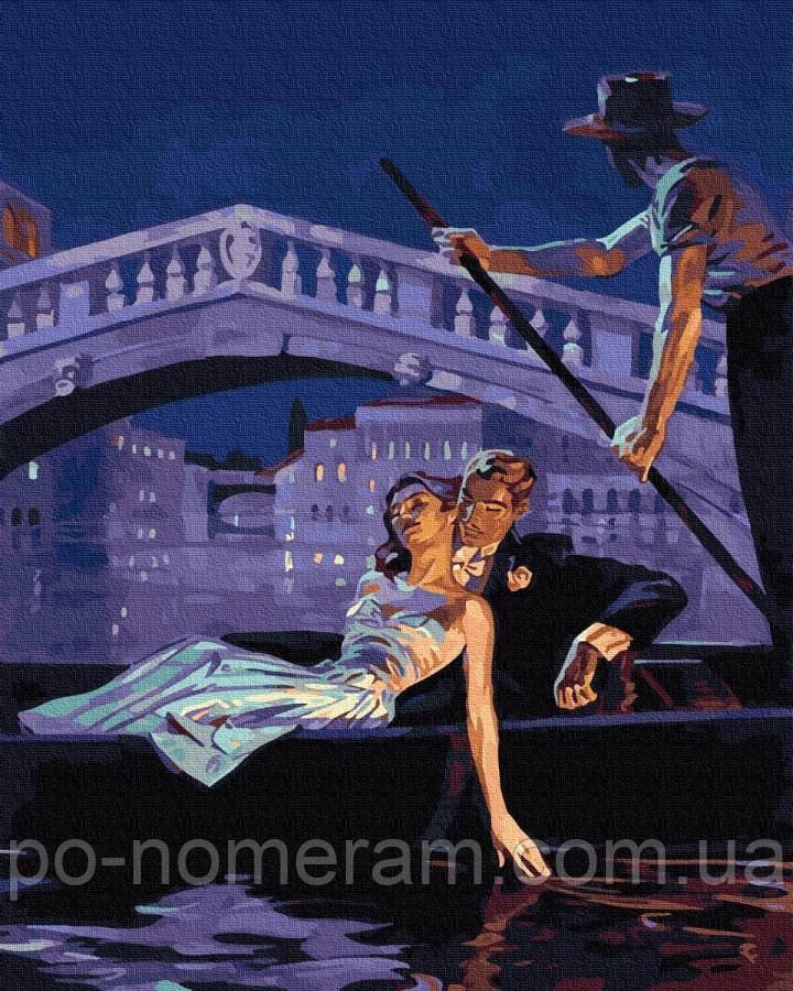 Розмальовка по номерах Вечір у Венеції (BK-GX25256) 40 х 50 см (Без коробки)