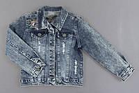 Джинсова курточка для дівчаток, фото 1
