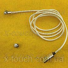USB - Micro USB-кабель плоский 1 м, Шнур micro usb 2.0 для LG ( кольори в асортименті )