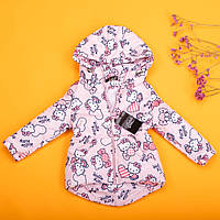 Детская демисезонная парка Hello Kitty для девочек 80-134 р