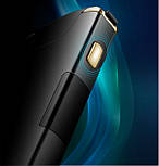 Электроимпульсная USB зажигалка TESLA с вращающейся дугой и Led индикатором заряда, фото 3