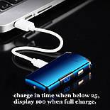 Электроимпульсная USB зажигалка TESLA с вращающейся дугой и Led индикатором заряда, фото 5