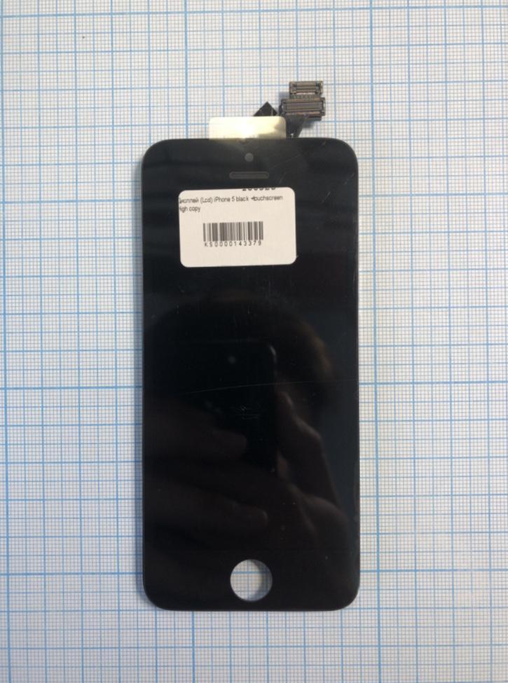 Дисплей (модуль) iPhone 5 з сенсором і рамкою black H/C