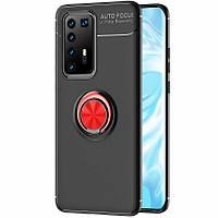 Чехол Fiji Hold для Huawei P40 Pro бампер накладка с подставкой Black-Red, фото 1