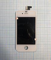 Дисплей для  мобільного телефона iPhone 4s, білий, з тачскріном, Original