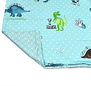 """Полуторный комплект (Бязь)   Постельное белье от производителя """"Королева Ночи""""   Динозавры на голубом, фото 4"""