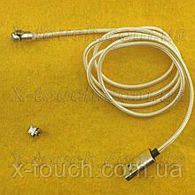 Магнітний USB кабель 3А з заглушкою Micro USB, золотий