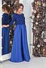 Нарядное женское длинное приталенное вечернее платье с с плотной юбкой р.42-46. Арт-4317/7