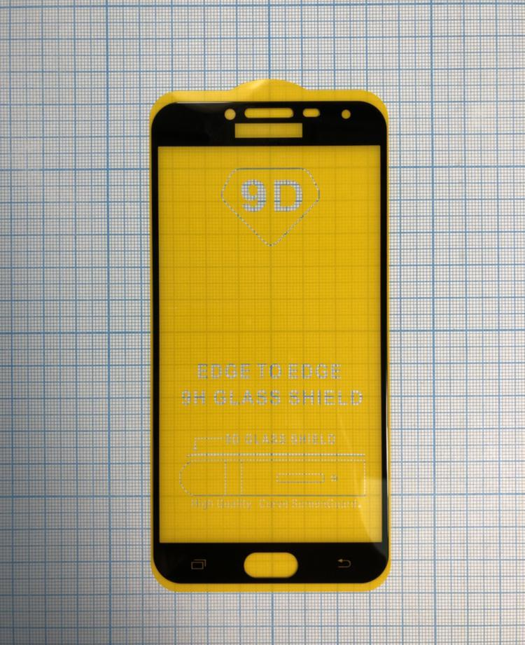 Захисне скло для  мобільного телефона Samsung J4 2018/J400, 0,25 мм, 3D, чорне, технічне пакування