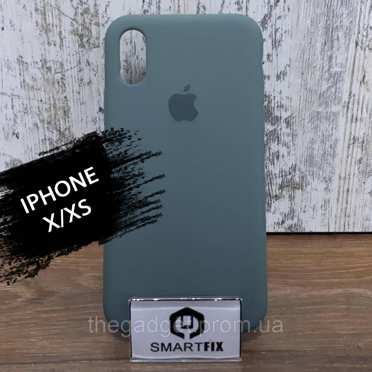 Силиконовый чехол для iPhone X / XS Soft Зеленый