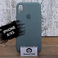 Силиконовый чехол для iPhone X / XS Soft Зеленый, фото 1