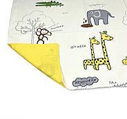 """Двоспальний комплект (Бязь)   Постільна білизна від виробника """"Королева Ночі""""   Тварини на жовтому, фото 4"""