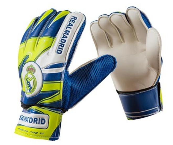 Воротарські рукавички Latex Foam REAL MADRID, розмір 8, синьо-зелений, RM18