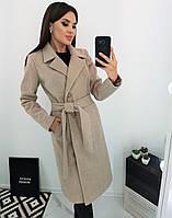 Женское теплое  модное пальто из шерсти  норма и батал новинка 2020