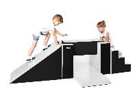 Мягкий игровой модуль KIDIGO Тренажер Спорт черно-белый