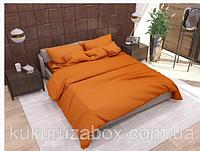"""Евро комплект постельного белья 200х220 из бязи Голд """"Оранжевый"""""""
