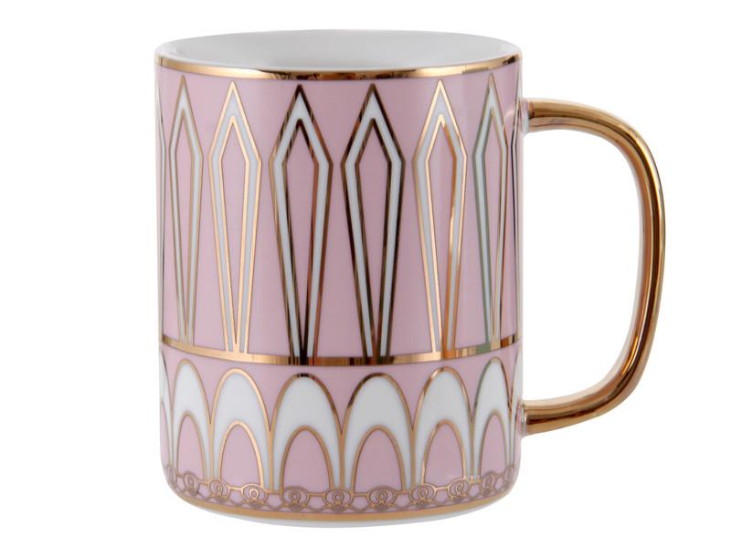 Розовая чашка 330мл
