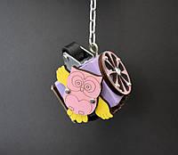 Бизикуб 5*5 развивающий по методеке Монтессори бізікуб  бизикубик фиолетов, фото 1